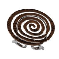 Handmade sterling silver ring Eight-RG-00706 spiral with rhodium plating